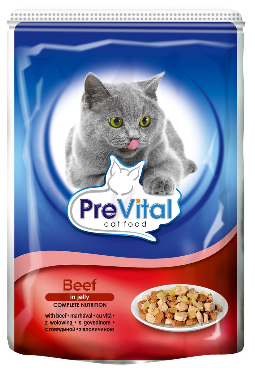 Корм консервированный Prevital Classic для кошек, с говядиной в желе, 100 г700050Состав: мясо и мясные продукты (4% говядины), злаки, экстракты белков растительного происхождения, минеральные вещества, сахар. Содержание питательных веществ: белок 7%, жир 4,5%, зола 2,5%, клетчатка 0,3%, влага 82%. Пищевые добавки/кг: вит. А - 1100 МЕ, вит. D3 - 140 МЕ, вит. Е - 15 мг, цинк (сульфат цинка, моногидрат) - 10 мг, марганец (оксид марганца) - 2,5 мг, таурин - 450 мг, камедь кассии.Без искусственных красителей и консервантов.
