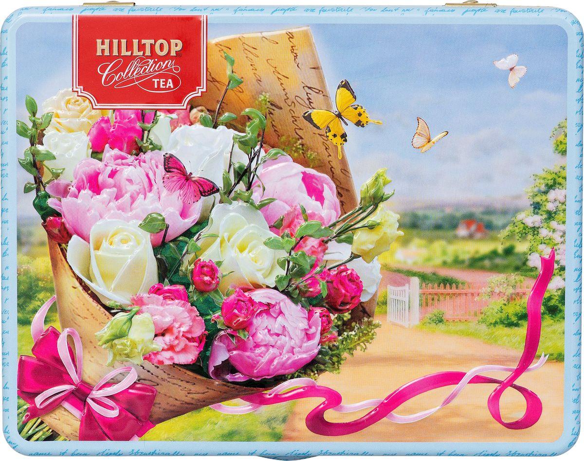 Hilltop Пышный букет подарочный набор, 3 шт по 50 г4607099309029Жестяная подарочная шкатулкаЦейлонский чай - 50 г / Очарование востока - 50 г / Спелая смородина - 50 г / Спешиал ганпауда - 50 г.