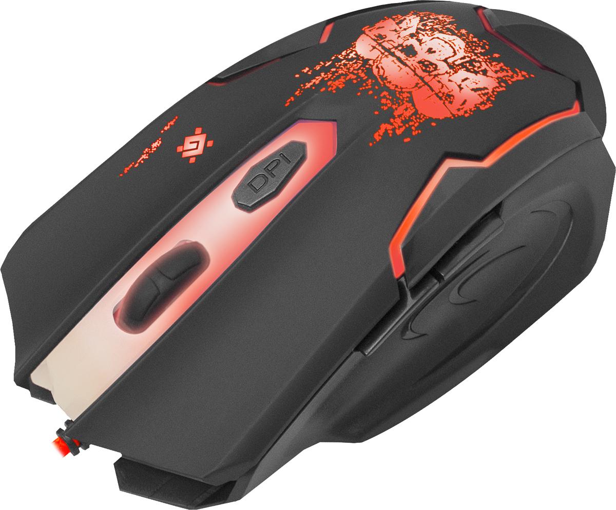 Defender Skull GM-180L, Blackигровая мышь Defender