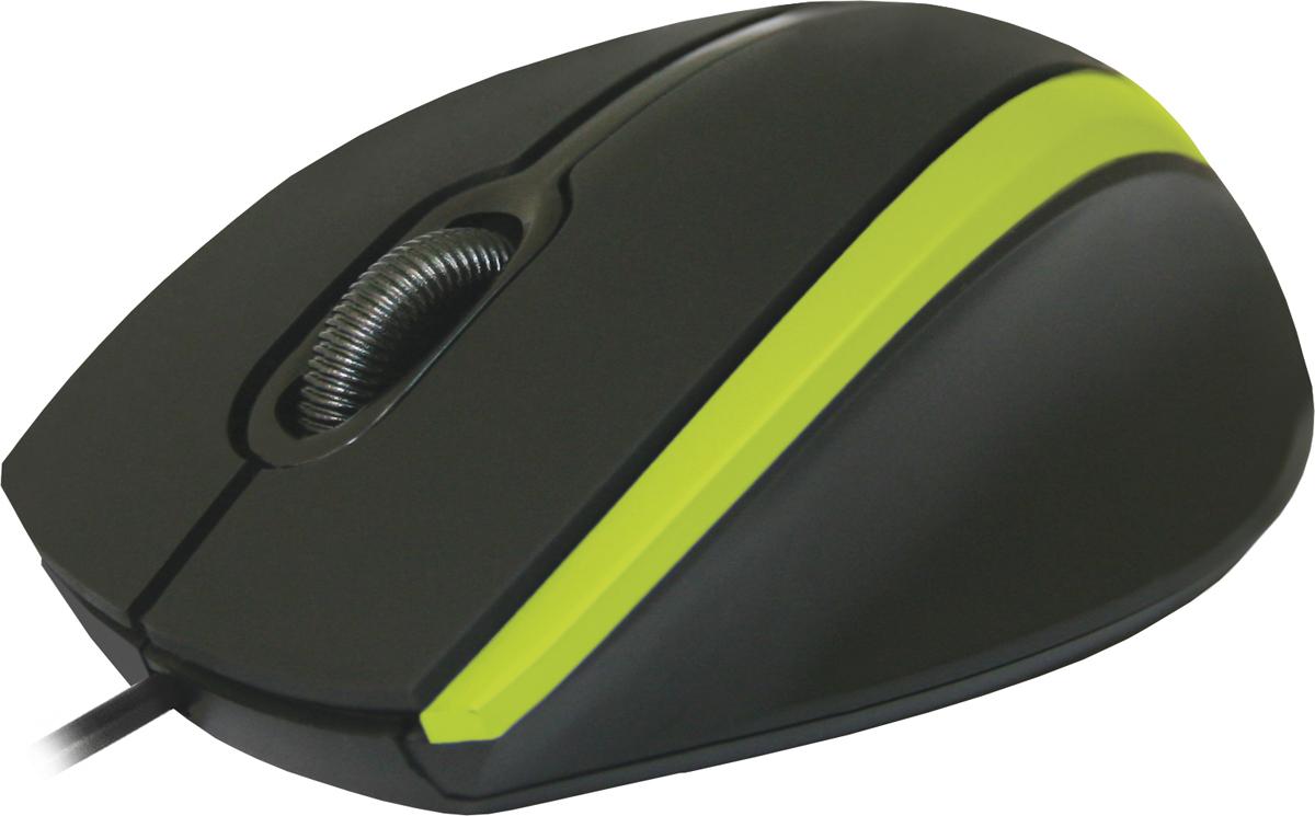 Defender MM-340, Black Green проводная оптическая мышь мышь qumo dragon war kraken m30 проводная оптическая для pc