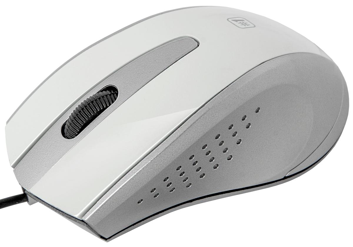 Defender MM-920, White Gray проводная оптическая мышь52922Проводная оптическая мышь Defender #1 MM-920 белый+серый,3 кнопки