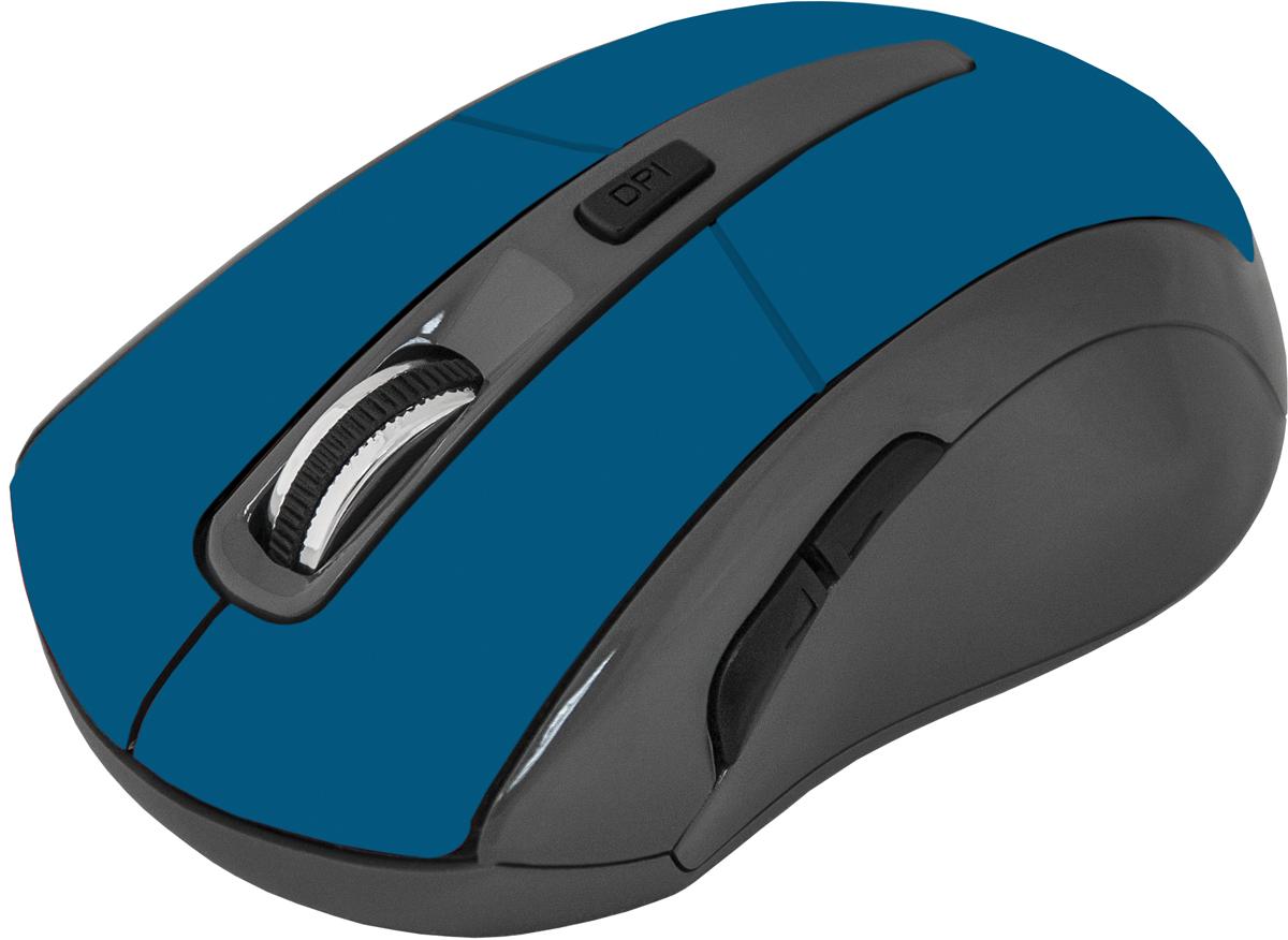 Defender Accura MM-965, Blue беспроводная оптическая мышь52967Беспроводная оптическая мышь Defender Accura MM-965 голубой,6кнопок,800-1600dpi