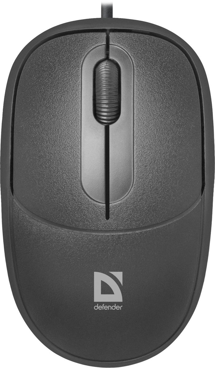 Defender Datum MS-980, Black проводная оптическая мышь52980Проводная оптическая мышь Defender Datum MS-980 черный,3 кнопки,1000dpi