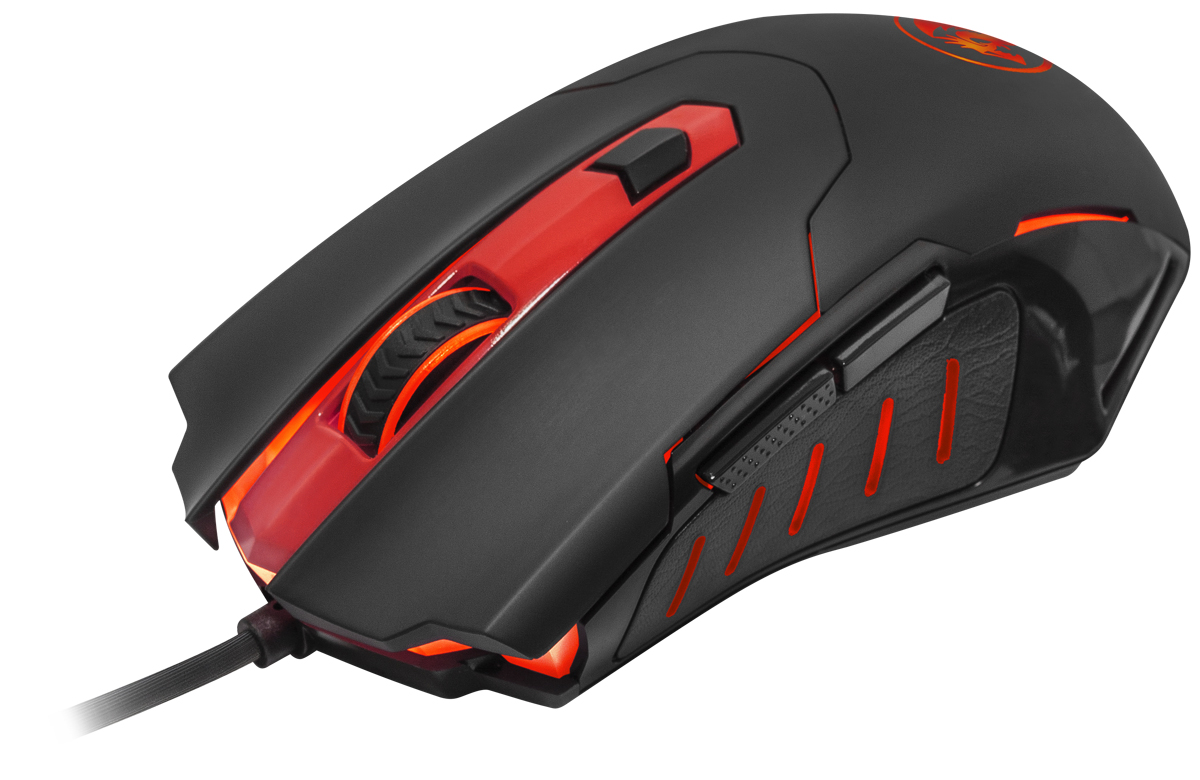 Redragon Pegasus, Black Red игровая мышь