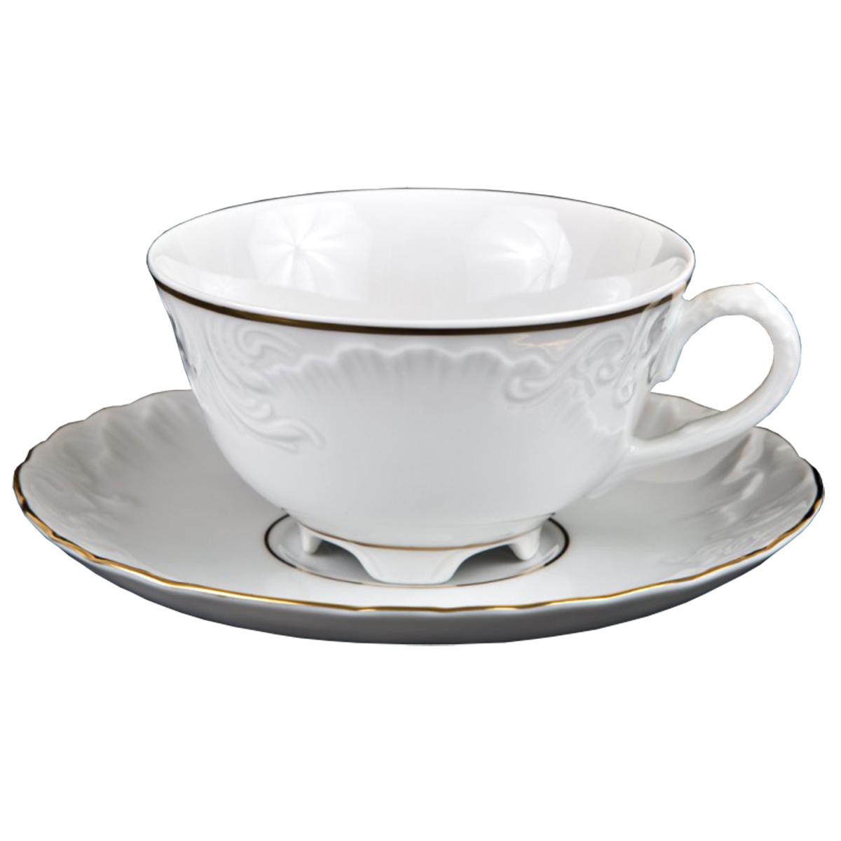 Чайная пара Cmielow Rococo. Золото, 220 мл, 2 предмета столы