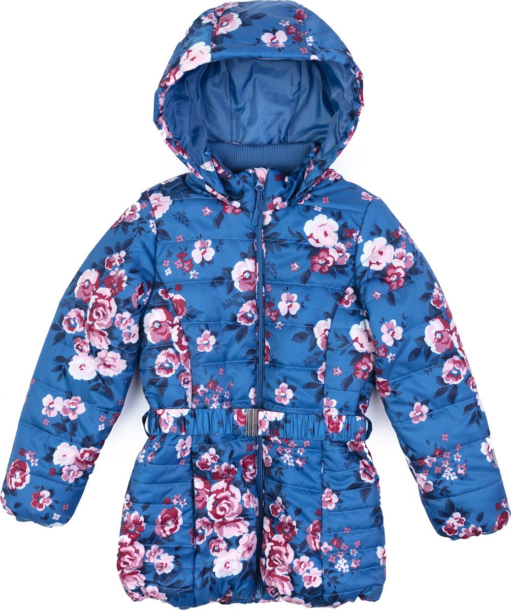 Куртка для девочки PlayToday, цвет: голубой, белый, розовый. 182051. Размер 116182051Утепленная стеганая куртка выполнена из водонепроницаемой ткани. Модель на молнии. Специальный карман для фиксации бегунка не позволит застежке травмировать нежную детскую кожу. Покладка из полиэстера. Внутренняя часть воротника - стойки и манжеты рукавов из вязаного трикотажа. Капюшон на молнии, при необходимости его можно отстегнуть. Дополнен регулируемым шнуром - кулиской. Куртка на поясе. Светоотражатели обеспечат видимость ребенка в темное время суток.