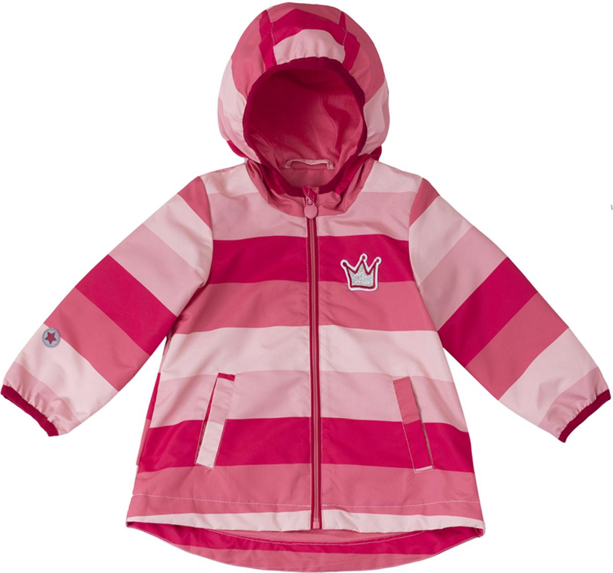 Куртка для девочки PlayToday, цвет: красный, розовый. 188007. Размер 80188007