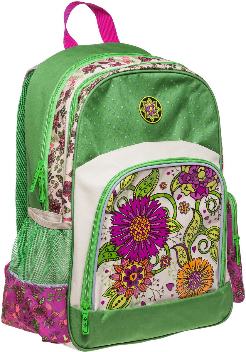 Hatber Рюкзак Soft Цветочный орнамент рюкзаки grizzly рюкзак