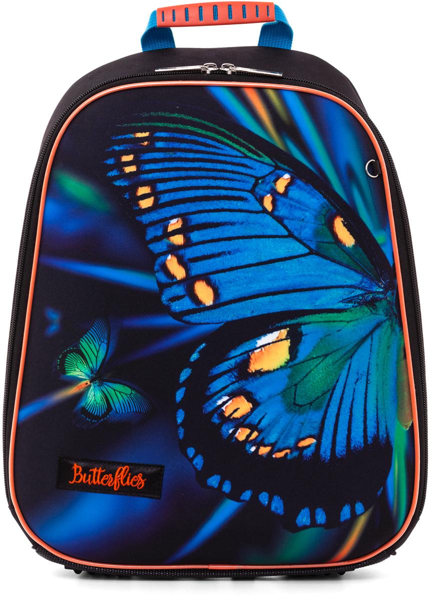 Hatber Ранец школьный Ergonomic Light Butterfly Eva hatber ранец школьный ergonomic light зебра eva
