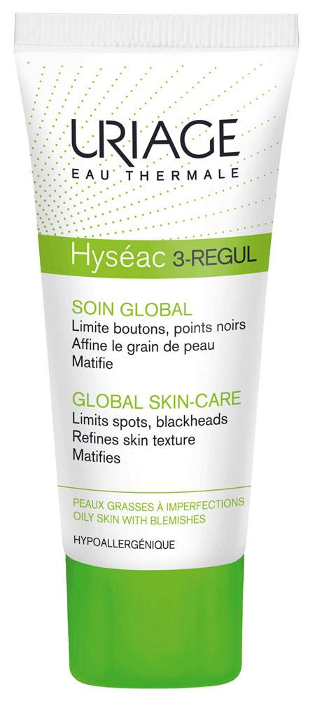 Uriage Универсальный уход Hyseac 3-Regul, 40 млU04308Исеак 3-Regul Универсальный уход оказывает мощное кераторегулирующее, противоспалительное и матирующее действие. Способствует уменьшению воспалительных элементов и черных точек. Выравнивает рельеф кожи, увлажняет и матирует. При регулярном применении сужает поры. Можно использовать как поддерживающий и лечебный уход.Преимущества:- Уменьшает адгезию бактерий P. acne (новый патент).- Не вызывает синдрома отмены.- 3 патента и инновационные активные ингредиенты обеспечивают максимальную эффективность.- Хорошая переносимость при высокой концентрации АНАи ВНА. - Протестировано на коже склонной к акне под дерматологическим контролем- Прост в применении, подходит юошам и девушкамНазначение: Смешанные, воспалительные и ретенционные акне: воспалительные элементы, черные точки, закупоренные поры, жирный блеск.