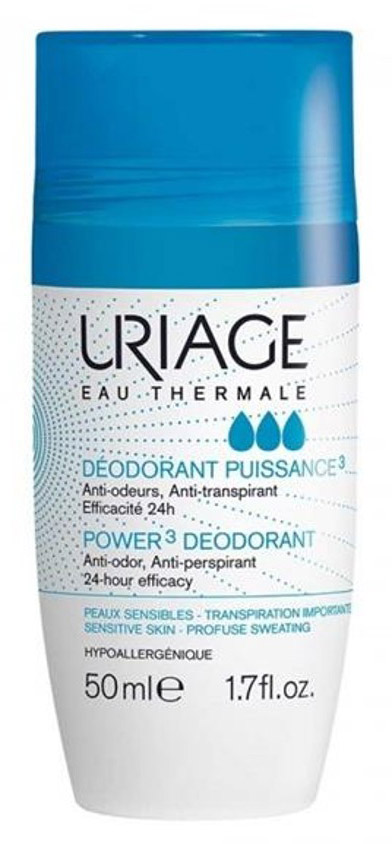 Uriage Дезодорант тройного действия ролик, 50 мл дезодорант