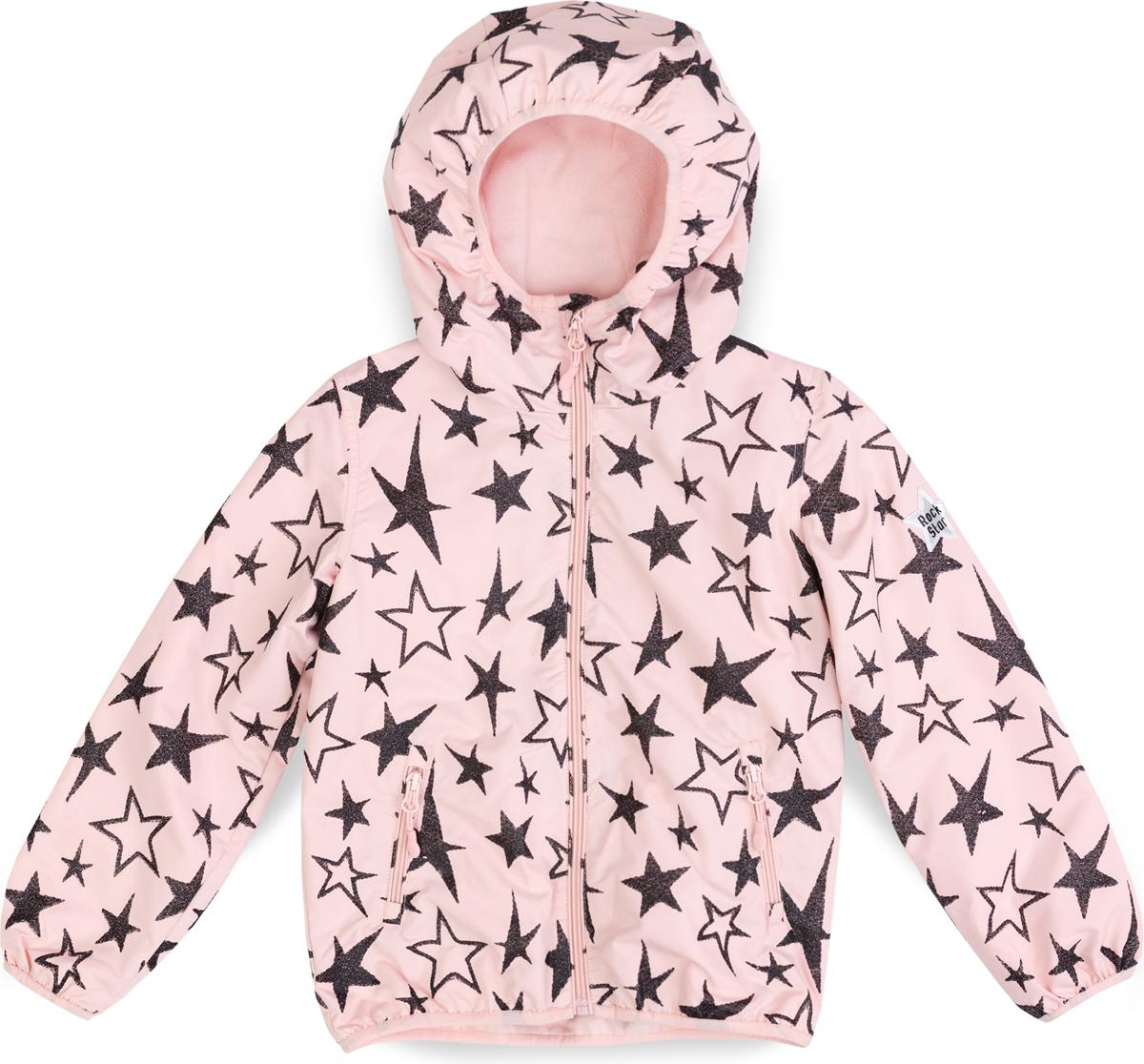 Куртка для девочки PlayToday, цвет: черный, светло-розовый. 182037. Размер 104182037Куртка из водоотталкивающей ткани. Модель на молнии. Специальный карман для фиксации бегунка не позволит застежке травмировать нежную детскую кожу. Встрочной капюшон с высоким горлом. Манжеты и низ изделия на мягких трикотажных резинках. Куртка декорирована глиттерными принтами. Дополнена встрочными карманами на молнии. Светоотражатель обеспечит видимость ребенка в темное время суток.