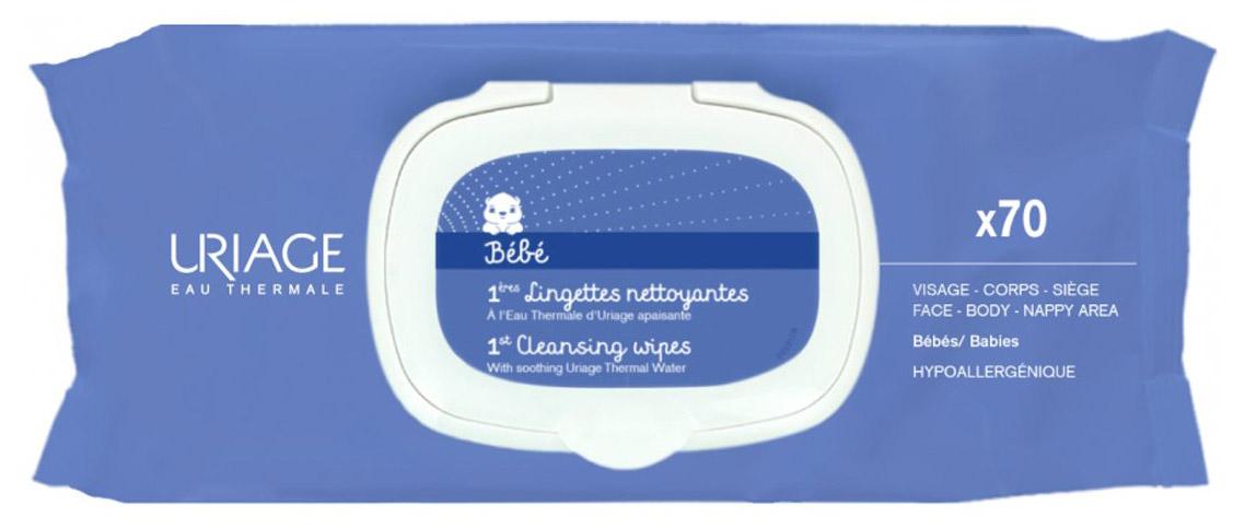 Uriage Очищающие сверхмягкие салфетки для детей и новорожденных Bebe, 70 шт для детей babe laboratorios набор для новорожденных