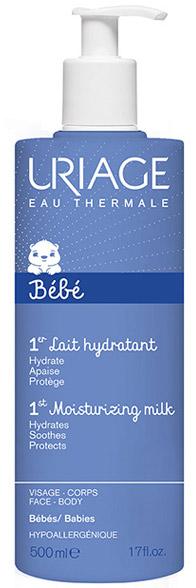 Uriage Увлажняющее молочко для детей и новорожденных Bebe, 500 млU05756Легкий увлажняющий уход за нежной кожей новорожденных и детей. Надолго увлажняет, смягчает и защищает детскую кожу от сухости. Обладает приятным лёгким ароматом, быстро впитывается. Может использоваться для лёгкого массажа.