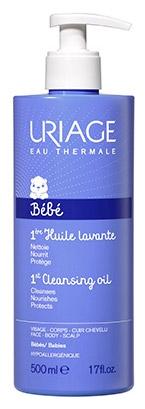 Uriage Очищающее пенящееся масло для кожи лица Bebe, 500 мл - Для детей
