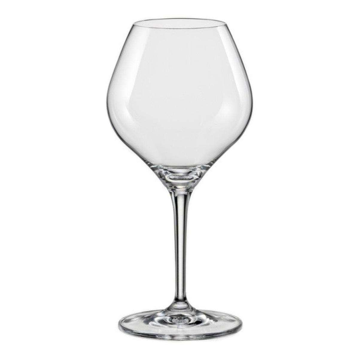 Набор бокалов для вина Bohemia Crystal Аморосо, 350 мл, 2 шт набор бокалов crystalex ангела оптика отводка зол 6шт 400мл бренди стекло