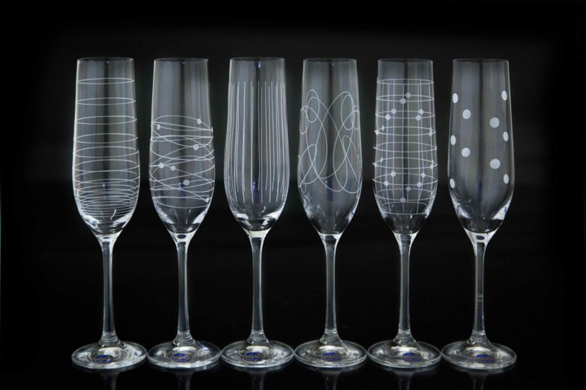 Набор бокалов для шампанского Bohemia Crystal Виола. Elements, 190 мл, 6 шт набор бокалов для шампанского bohemia crystal анжела 190 мл 6 шт 40600 q8997 190