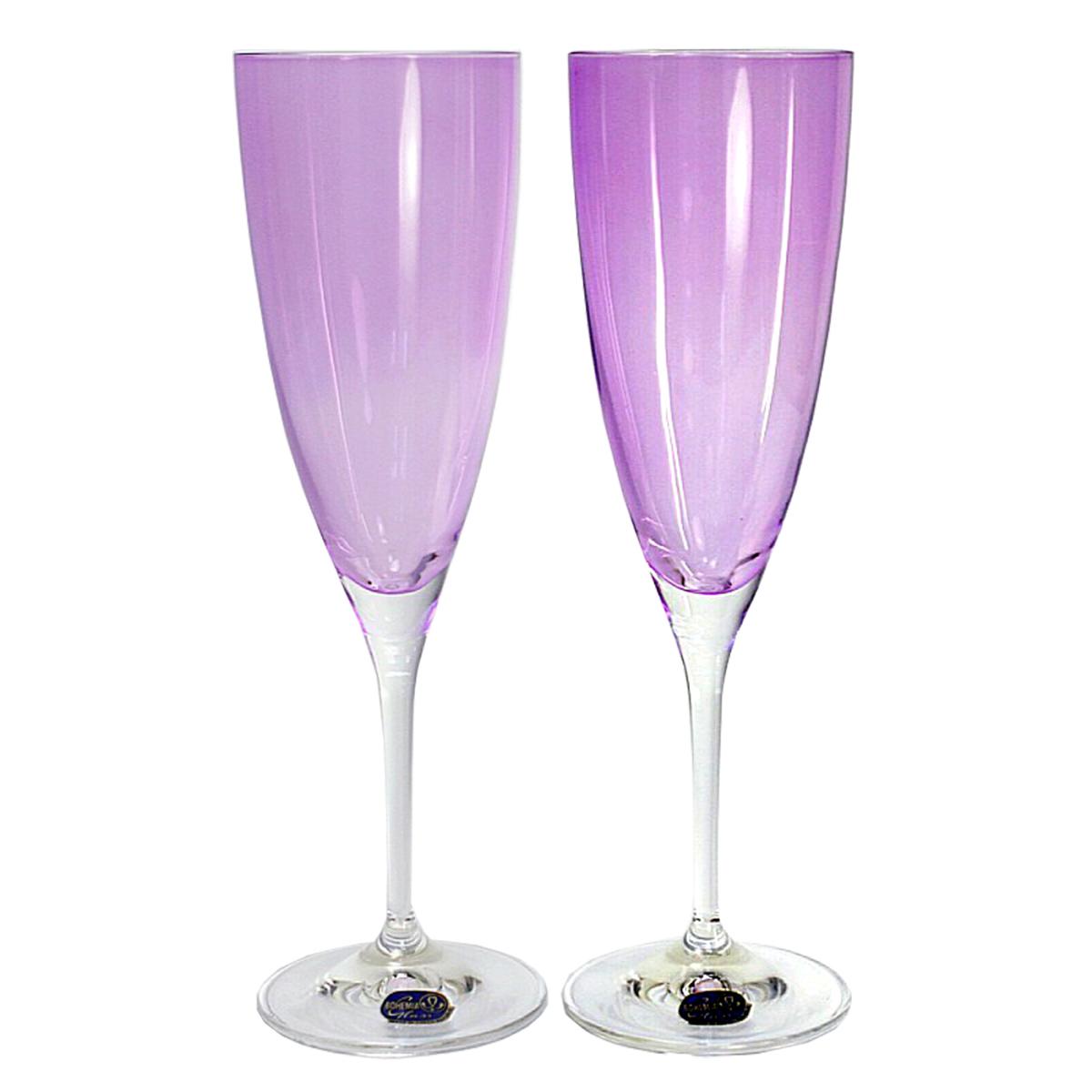 Набор бокалов для шампанского Bohemia Crystal Кейт, 220 мл, 2 шт. 40796/D4651/220-2 набор бокалов для шампанского wilmax 230 мл 2 шт
