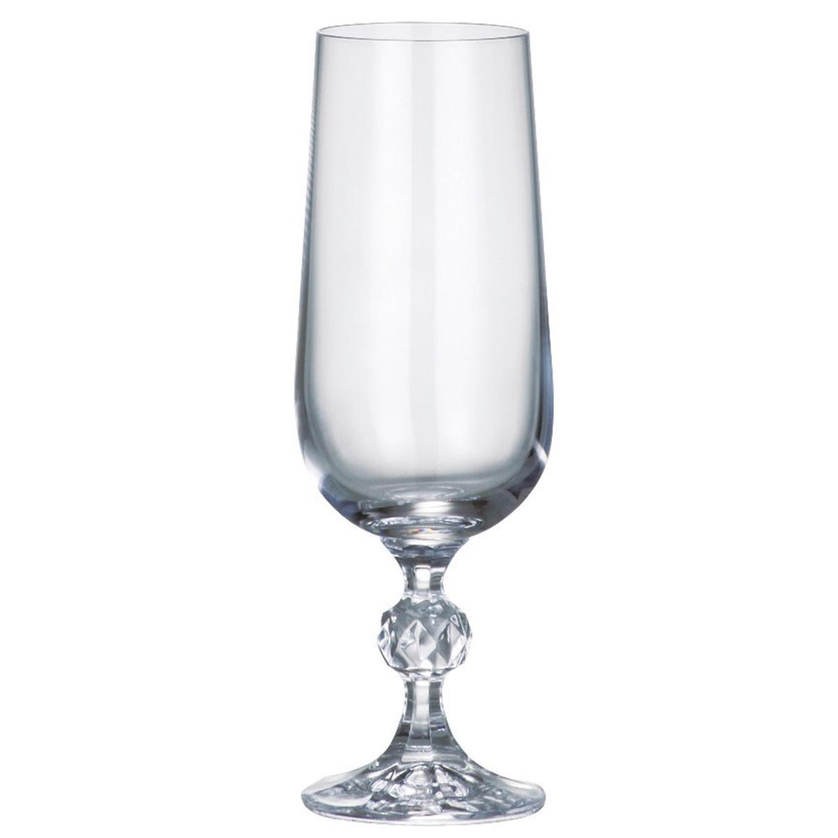 Набор бокалов для шампанского Bohemia Crystal Клаудия, 180 мл, 6 шт. 40149/180 набор бокалов для бренди коралл 40600 q8105 400 анжела