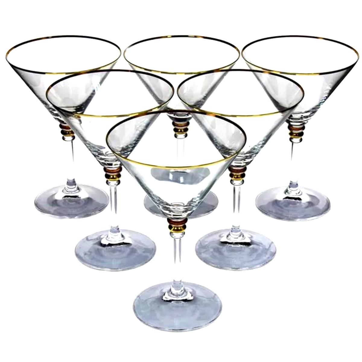 Набор бокалов для мартини Bohemia Crystal Оливия, 210 мл, 6 шт набор бокалов для бренди коралл 40600 q8105 400 анжела