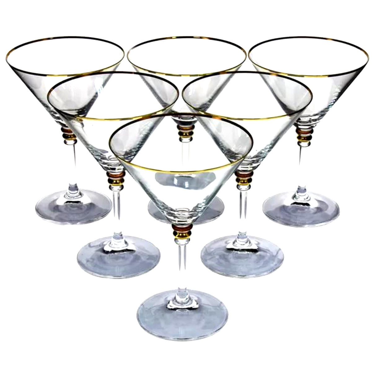 Набор бокалов для мартини Bohemia Crystal Оливия, 210 мл, 6 шт