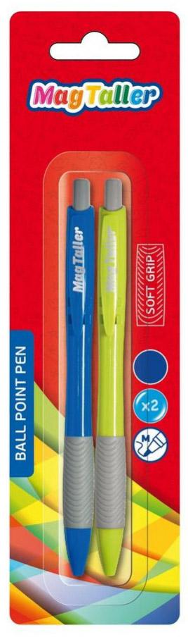 MagTaller Ручка шариковая автоматическая Soft Grip цвет чернил синий ручка шариковая тайна имени виктор цвет чернил синий