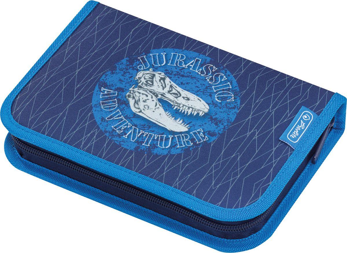 Herlitz Пенал с наполнением Blue Dino 31 предмет50014385Пенал с наполнением Blue Dino 31 предмет Описание: - 20,5х14х3,5 - 1 отделение, 2 откидные створки - прочный кант, жесткая обложка Наполнение: - 1 шариковая ручка, - 2 чернографитных карандаша, - 8 цветных карандашей, 14 фломастеров - линейка и угольник, ластик и точилка, - расписание уроков на русском языке, - личные данные ученика