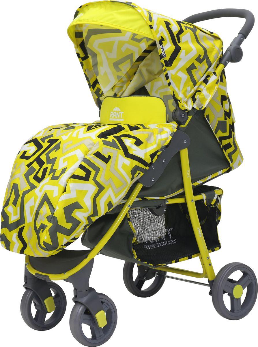Rant Коляска прогулочная Kira Plus Labirint цвет желтый rant коляска прогулочная largo jeans цвет черный