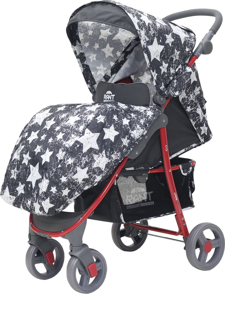 Rant Коляска прогулочная Kira Plus Stars цвет графит rant коляска прогулочная largo jeans цвет черный