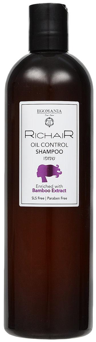 Egomania Professional Collection Шампунь Richair для контроля жирности кожи головы с экстрактом бамбука, 400 мл