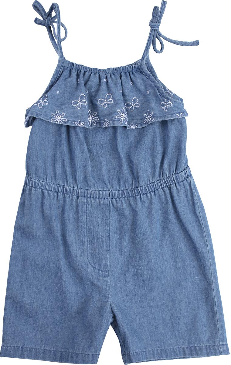 Полукомбинезон для девочки PlayToday, цвет: синий. 188070. Размер