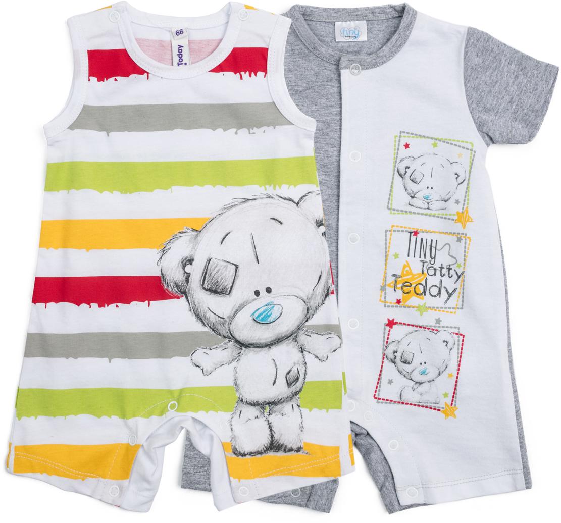 Полукомбинезон для мальчика PlayToday, цвет: мультиколор, 2 шт. 687851. Размер 74687851