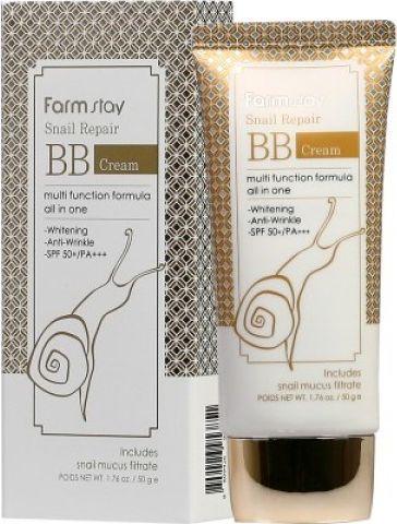 FarmStay BB-крем для лица с муцином улитки, 50 мл многофункциональный bb крем с муцином улитки bergamo magic snail bb cream