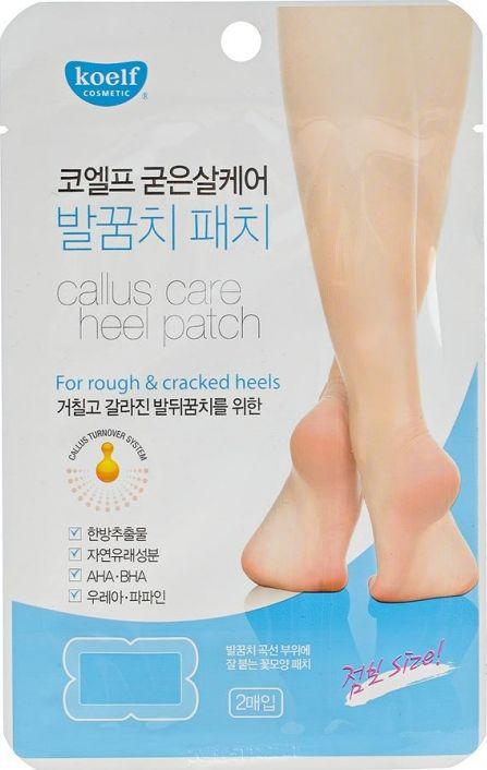 Koelf Патчи для ухода за огрубевшей кожей пяток194870Кожа пяток наиболее всего подвержена сухости, огрубению и растрескиванию. Патчи содержат мочевину и папаин – для увлажнения, питания, смягчения и отшелушивания огрубевшей кожи. Гликолевая, винная, салициловая и анисовая кислоты – это AHA-кислоты. На поверхности кожи они ослабляют связи между клетками, обеспечивая отшелушивание ороговевших частиц, тем самым уменьшая толщину рогового слоя, благодаря чему кожа становится ровнее и мягче. Гиалуроновая кислота глубоко увлажняет кожу. Трещинки, мозоли, натоптыши на пятках перестанут доставлять вам неудобства и неприятные ощущения.
