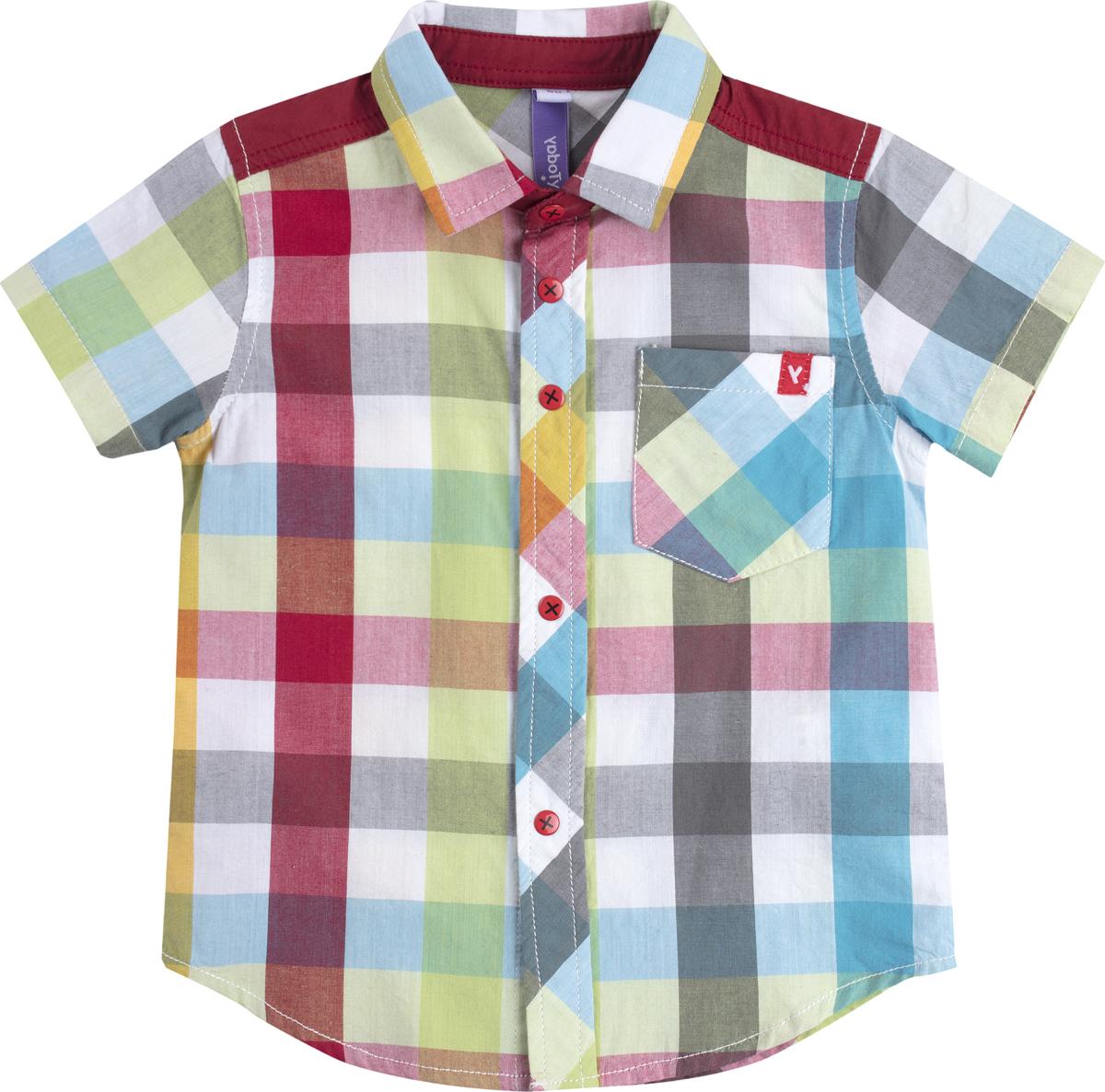 Рубашка для мальчика PlayToday, цвет: мультиколор. 187057. Размер 92187057
