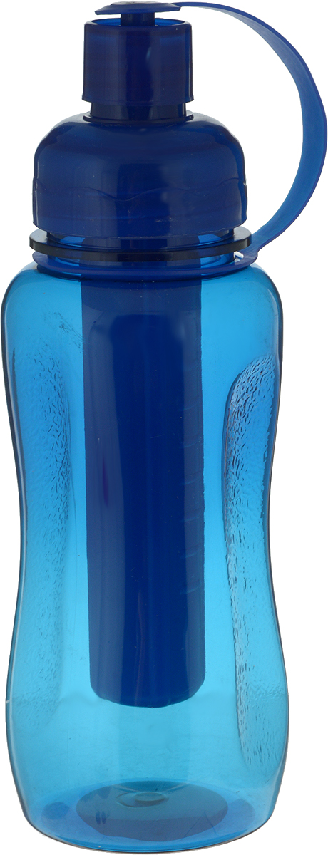 Бутылка Mayer & Boch, с емкостью для льда, цвет: синий, 500 мл. 27092