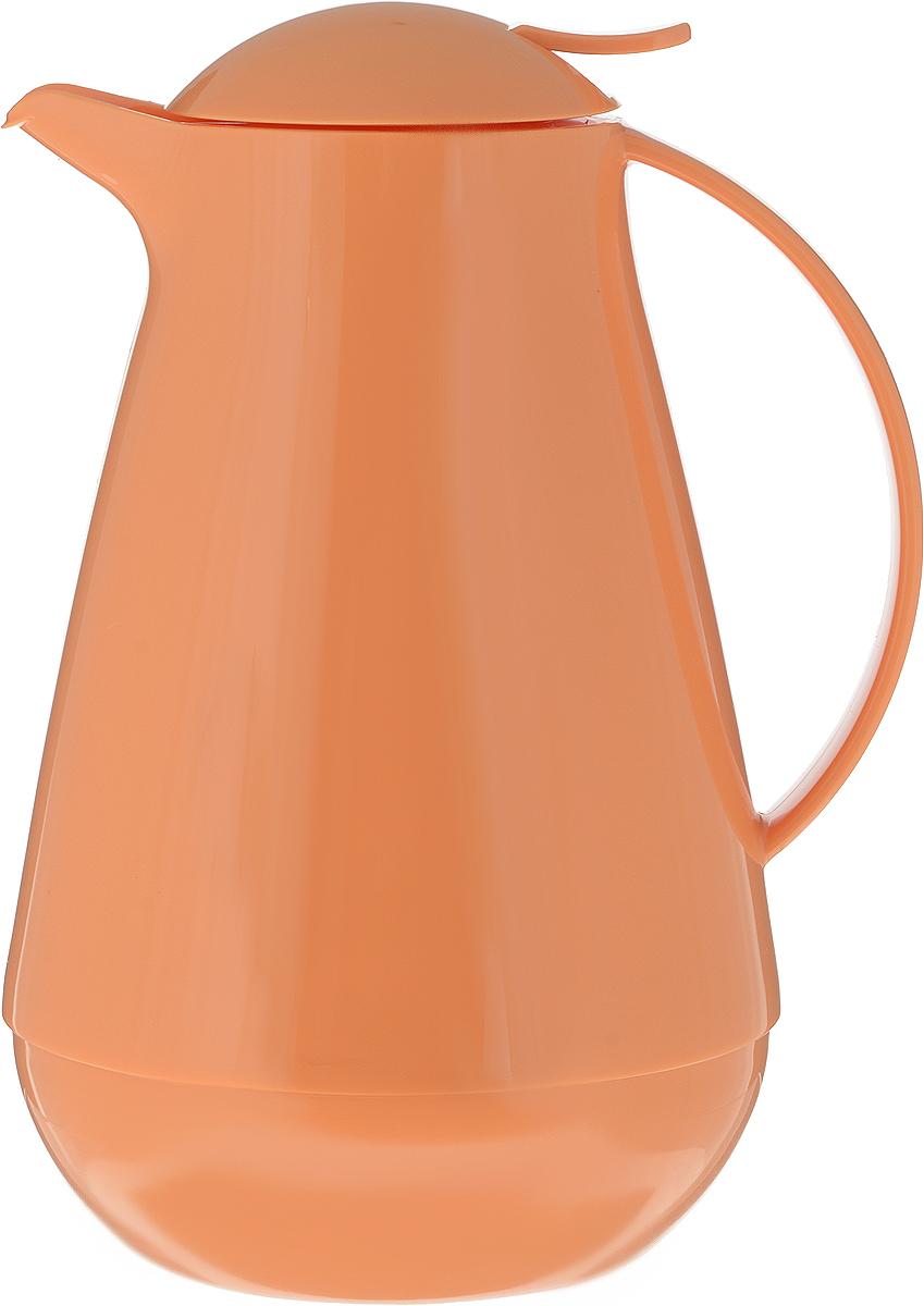 Термос с крышкой-дозатором Family, цвет: оранжевый, 1 л.310555_оранжевыйТермос с крышкой-дозатором Family, цвет: оранжевый, 1 л.