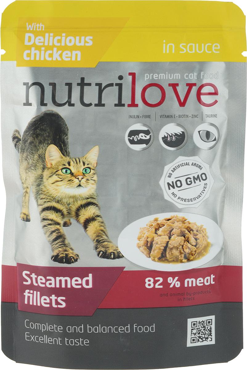 Корм консервированный Nutrilove, для кошек, с курицей в соусе, 85 г15451Консервированный корм Nutrilove - полноценное питание для взрослых кошек.Продукты Nutrilove являются инновационными в своем сегменте.Корма изготовлены по самым передовыми технологиями, в том числе, сиспользованием свежего мяса в качестве одного из основныхингредиентов. Они характеризуются высоким содержанием белка животногопроисхождения с идеально сбалансированным содержанием жиров,минеральных веществ и витаминов. Товар сертифицирован.