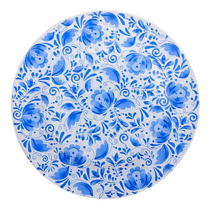 Тарелка обеденная Vetta Гжельские мотивы, диаметр 25 см сахарница vetta народные мотивы с ложкой 300 мл