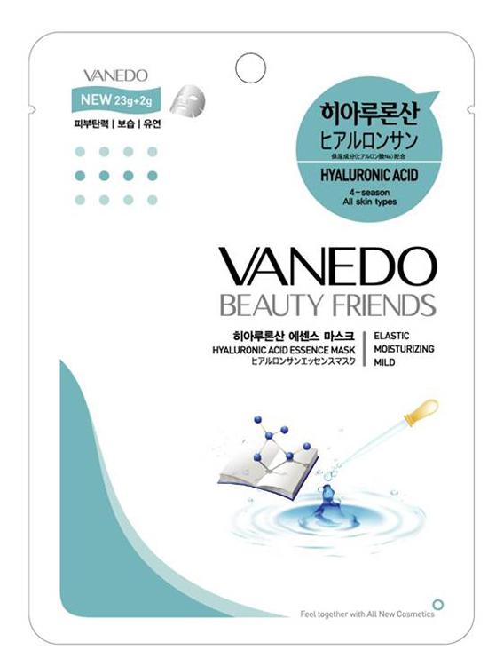 Vanedo Hyarulonic Acid Essence Mask Sheet Pack Маска для лица с гиалуроновой кислотой, 25 г holika holika маска тканевая увлажняющая ампул эссенс гиалуроновая кислота ampoule essence mask sheet hyaluronic acid 18мл