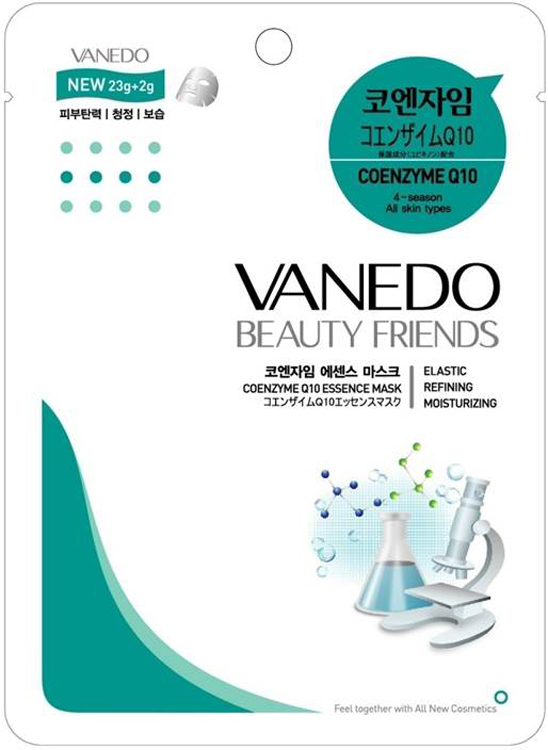 Vanedo Coenzyme Q10 Essence Mask Sheet Pack Маска для лица с коэнзимом Q10, 25 г holy land маска питательная mask q10 coenzyme energizer 50мл