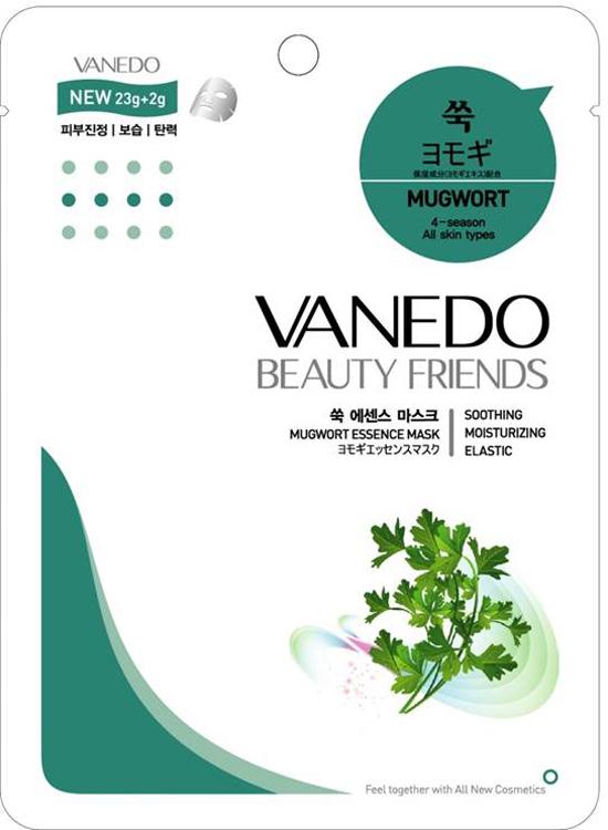 Vanedo Mugwort Essence Mask Sheet Pack Маска для лица с полынью обыкновенной, 25 г175733Маска сделана на основе водного раствора и концентрированных растительных экстрактов, благодаря которым кожа усваивает питательные вещества. Экстракт полыни содержит большое количество минералов и витаминов, оказывает противовоспалительное действие, снимает зуд, уменьшает активность сальных желез, оказывает бактерицидный эффект.