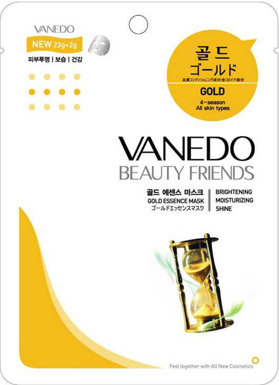 Vanedo Gold Essence Mask Sheet Pack Маска для лица с золотом, 25 г гель для душа korres korres ko003lucnc21