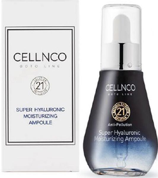 Cellnco Boto Line Super Hyaluronic Moisturizing Ampoule Сыворотка для лица супер гиалуроновое увлажнение, 50 мл370015Сыворотка для лица супер гиалуроновое увлажнение. Гиалуроновая кислота в сочетании с экстрактом морских водорослей позволяет коже оставаться не только увлажненной в течение 24 часов, но и создает защитный слой, который предотвращает потерю влаги и повышает эластичность кожи.
