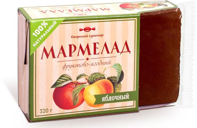 Озерский сувенир мармелад фруктово-ягодный яблочный, 320 г мармелад озерский сувенир фруктово ягодный яблоко натуральный 320г