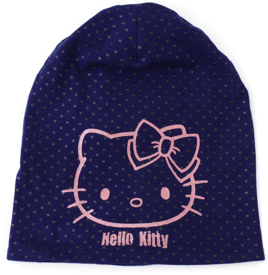 Шапка для девочки PlayToday, цвет: розовый, темно-синий, черный. 682055. Размер 56682055Двуслойная шапка выполнена из натурального хлопка. Модель без завязок. Хорошо облегает голову. Декорирована лицензированным глиттерным принтом.