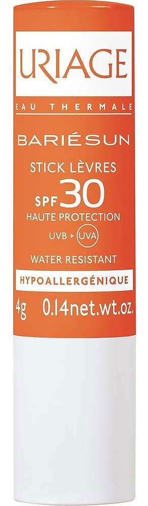 Uriage Помада для губ для детей и взрослых SPF 30 Барьесан, 4 гU01444Солнцезащитная линия BarieSun Барьесан для детей и взрослых эффективно защищает кожу от вредного воздействия солнца, обеспечивая сбалансированную защиту от УФА-УФБ лучей. Все средства Барьесан разработаны с гарантией максимальной безопасности применения и обладают великолепными косметическими качествами. Их формулы содержат минимальное количество химических фильтров, тщательно отобранных за высокую переносимость.Обеспечит надежную защиту от UVA и UVB излучений благодаря высокотехнологичному комплексу фильтров SPF 30, надежно увлажнит и защитит губы от пересыхания.Уважаемые клиенты! Обращаем ваше внимание на то, что упаковка может иметь несколько видов дизайна. Поставка осуществляется в зависимости от наличия на складе.
