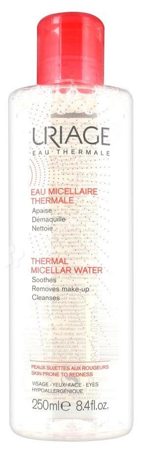 Uriage Мицеллярная вода очищающая для чувствительной кожи, 250 млU03639Гипоаллергенная мицеллярная вода с приятным ароматом идеально очищает глаза и лицо от декоративной косметики и загрязнений, подарит долгое ощущение комфорта. Ваша кожа будет эластичной и бархатистой без шелушения и красноты.