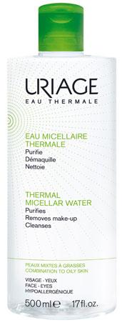 Uriage Мицеллярная вода очищающая для комбинированной и жирной кожи, 500 мл вода мицеллярная uriage урьяж вода мицеллярная очищающая для нормальной и сухой кожи флакон 250 мл