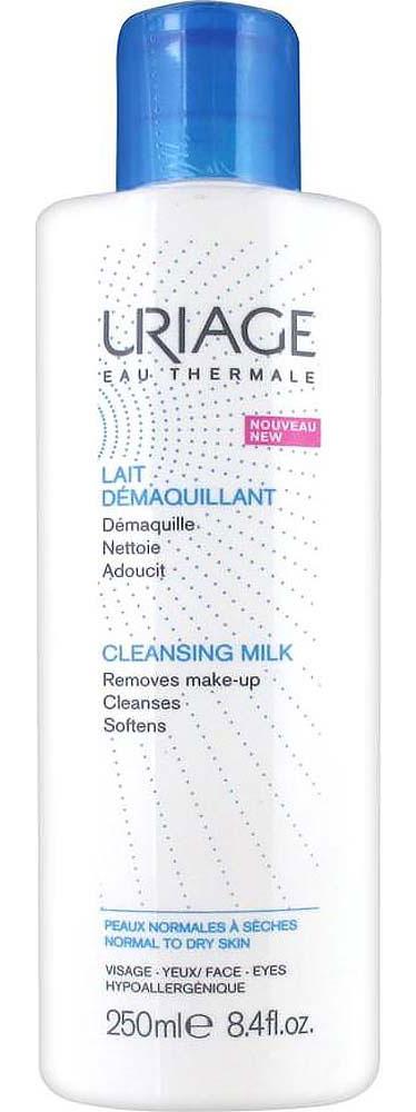 Uriage Очищающее молочко для снятия макияжа, 250 млU03707Uriage Lait Demaquillant - это нежное и очень деликатное очищение, которое подходит для всех типов кожи, в том числе для чувствительной. Бережно удаляет макияж и загрязнения с кожи лица и контура глаз. Экстракт клюквы, богатый витамином C, оказывает антиоксидантное действие, а экстракт подсолнечника смягчает и питает кожу. Термальная Вода Урьяж увлажняет, укрепляет и защищает кожный барьер, способствует восстановлению и сохранению целостности гидролипидной плёнки. Лёгкая текстура молочка с приятным ароматом обеспечивает коже мягкость и комфорт.